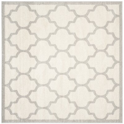 Maritza Beige/Light Grey Flat Woven Area Rug Rug Size: Square 7