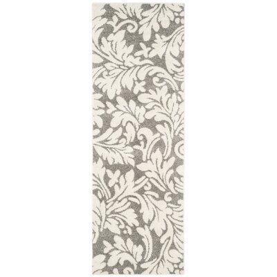 Maritza Dark Grey/Beige Woven Area Rug Rug Size: Runner 23 x 11