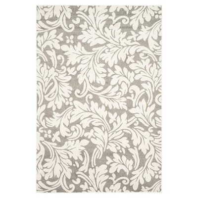 Maritza Dark Grey/Beige Woven Area Rug Rug Size: Rectangle 5 x 8