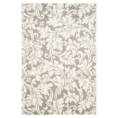 Maritza Dark Grey/Beige Woven Area Rug Rug Size: 4 x 6