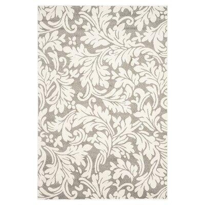 Maritza Dark Grey/Beige Woven Area Rug Rug Size: 5 x 8