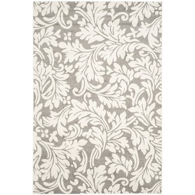 Maritza Dark Grey/Beige Woven Area Rug Rug Size: Rectangle 6 x 9