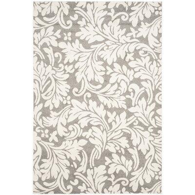 Maritza Dark Grey/Beige Woven Area Rug Rug Size: 6 x 9