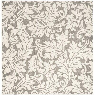 Maritza Dark Grey/Beige Woven Area Rug Rug Size: Square 7