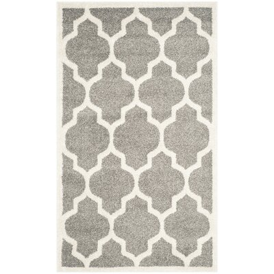 Maritza Trellis Dark Grey/Beige Area Rug Rug Size: Rectangle 26 x 4