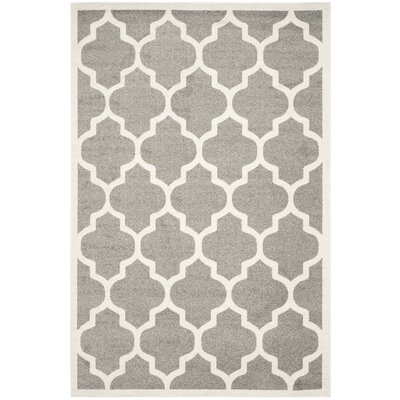 Maritza Trellis Dark Grey/Beige Area Rug Rug Size: Rectangle 8 x 10
