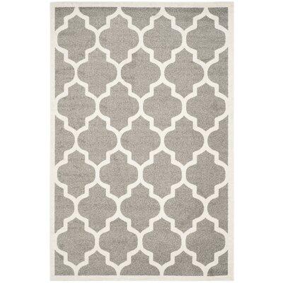 Maritza Trellis Dark Grey/Beige Area Rug Rug Size: 8 x 10