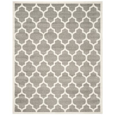 Maritza Trellis Dark Grey/Beige Area Rug Rug Size: 10 x 14