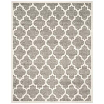 Maritza Trellis Dark Grey/Beige Area Rug Rug Size: 12 x 18