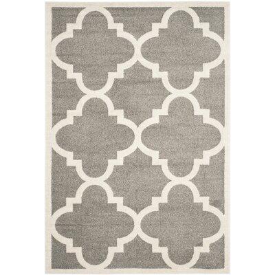 Levon Dark Grey/Beige Indoor/Outdoor Area Rug Rug Size: 10 x 14