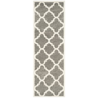 Maritza Dark Grey/Beige Indoor/Outdoor Area Rug Rug Size: Runner 23 x 11