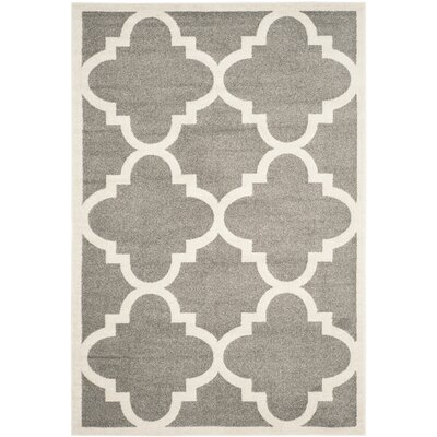 Maritza Dark Grey/Beige Indoor/Outdoor Area Rug Rug Size: 4 x 6