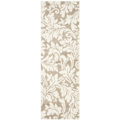 Maritza Floral Wheat/Beige Indoor/Outdoor Area Rug Rug Size: Runner 23 x 11