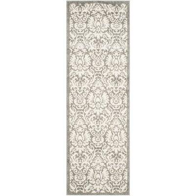 Levon Dark Grey/Beige Area Rug Rug Size: Runner 23 x 9