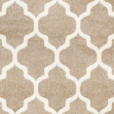 Maritza Wheat/Beige Woven Area Rug Rug Size: Rectangle 26 x 4