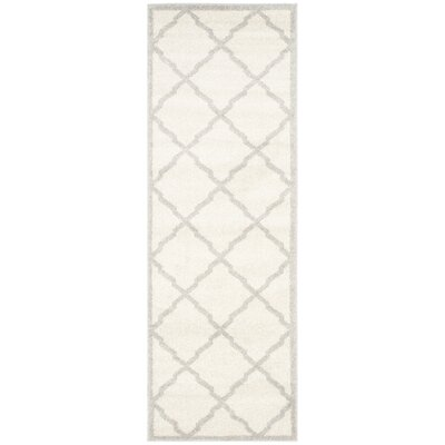 Maritza Geometric Beige/Light Grey Area Rug Rug Size: Runner 23 x 9
