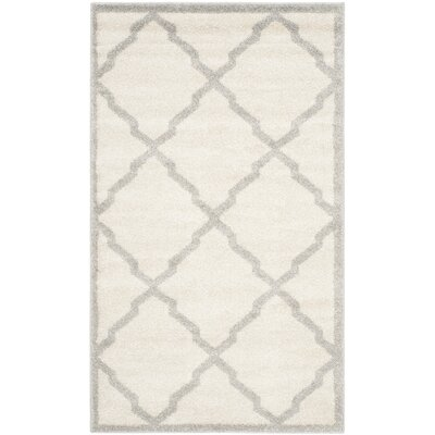 Maritza Geometric Beige/Light Grey Area Rug Rug Size: 3 x 5