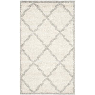 Maritza Geometric Beige/Light Grey Area Rug Rug Size: 4 x 6