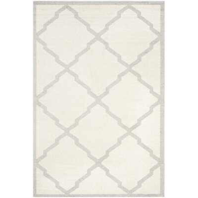 Maritza Geometric Beige/Light Grey Area Rug Rug Size: 6 x 9