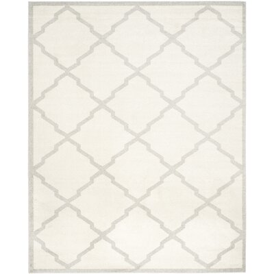 Maritza Geometric Beige/Light Grey Area Rug Rug Size: 8 x 10