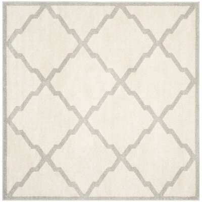 Maritza Geometric Beige/Light Grey Area Rug Rug Size: Square 7