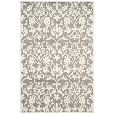 Maritza Dark Grey/Beige Area Rug Rug Size: Rectangle 6 x 9