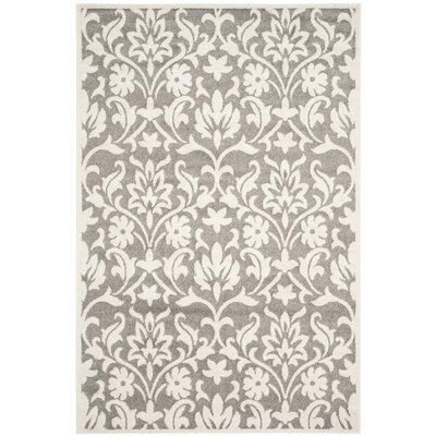 Levon Dark Grey/Beige Area Rug Rug Size: 26 x 4