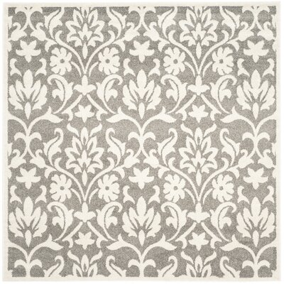 Levon Dark Grey/Beige Area Rug Rug Size: Square 7