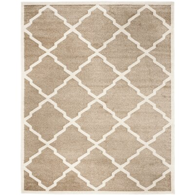 Maritza Trellis Wheat/Beige Indoor/Outdoor Area Rug Rug Size: Rectangle 8 x 10