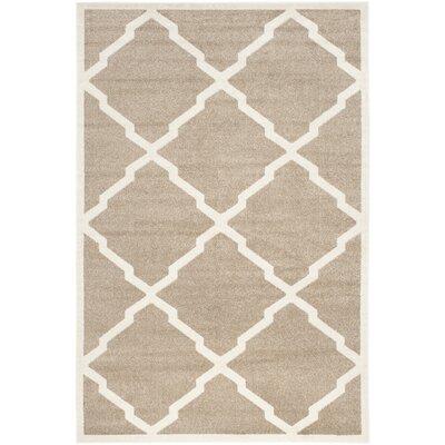 Maritza Trellis Wheat/Beige Indoor/Outdoor Area Rug Rug Size: Rectangle 5 x 8
