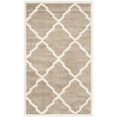 Maritza Trellis Wheat/Beige Indoor/Outdoor Area Rug Rug Size: Rectangle 4 x 6