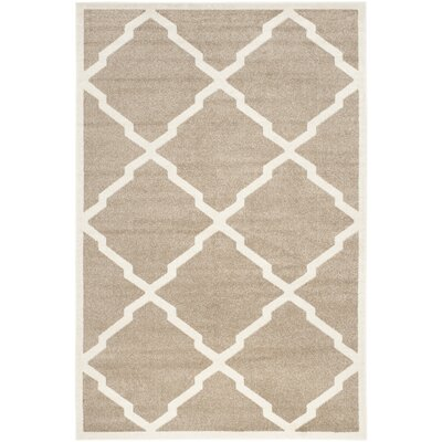 Maritza Trellis Wheat/Beige Indoor/Outdoor Area Rug Rug Size: 5 x 8