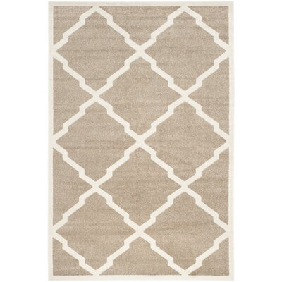 Maritza Trellis Wheat/Beige Indoor/Outdoor Area Rug Rug Size: Rectangle 6 x 9