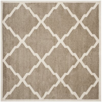 Maritza Trellis Wheat/Beige Indoor/Outdoor Area Rug Rug Size: Square 7