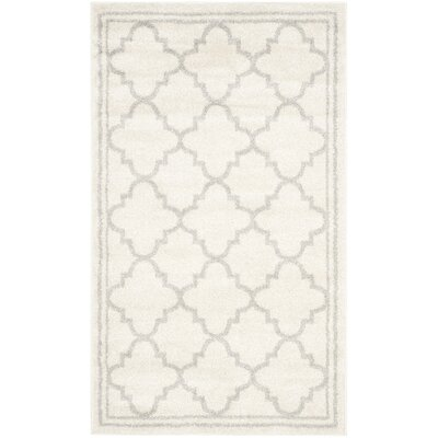 Maritza Beige/Light Grey Area Rug Rug Size: Rectangle 3' x 5'