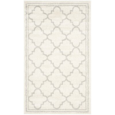 Maritza Beige/Light Grey Area Rug Rug Size: Rectangle 4 x 6