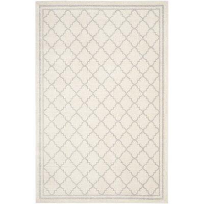 Maritza Beige/Light Grey Area Rug Rug Size: Rectangle 6' x 9'