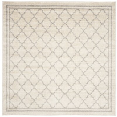 Maritza Beige/Light Grey Area Rug Rug Size: Square 7