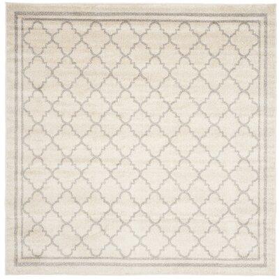 Maritza Beige/Light Grey Area Rug Rug Size: Square 5