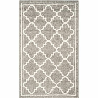 Maritza Dark Grey/Beige Indoor/Outdoor Area Rug Rug Size: Runner 23 x 15