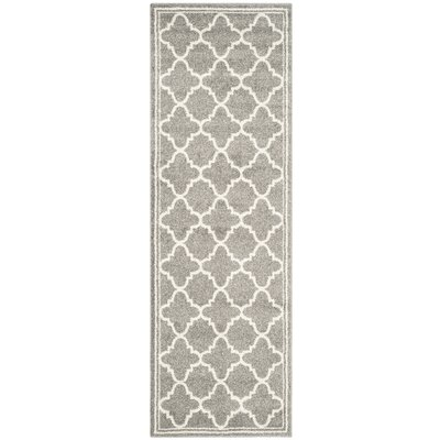 Maritza Dark Grey/Beige Indoor/Outdoor Area Rug Rug Size: Runner 23 x 7