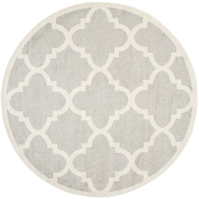 Maritza Light Grey & Beige Area Rug Rug Size: Rectangle 2'6
