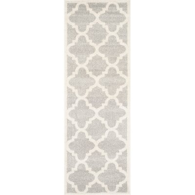 Maritza Light Grey & Beige Area Rug Rug Size: Runner 23 x 11