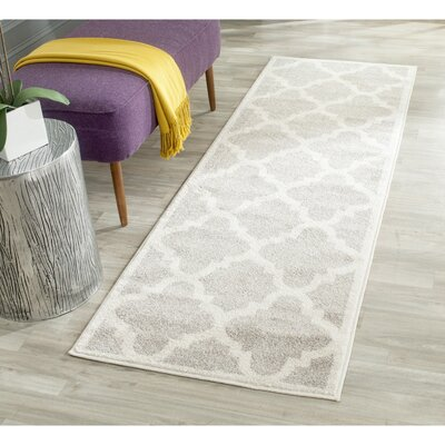 Levon Light Grey & Beige Area Rug Rug Size: Runner 23 x 11