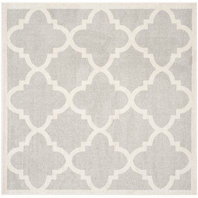 Maritza Light Grey & Beige Area Rug Rug Size: Square 7