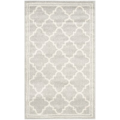 Levon Light Gray & Beige Indoor/Outdoor Area Rug Rug Size: 4 x 6
