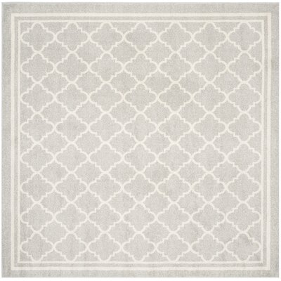 Maritza Light Gray & Beige Indoor/Outdoor Area Rug Rug Size: Square 7