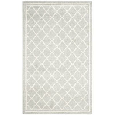 Levon Light Gray & Beige Indoor/Outdoor Area Rug Rug Size: 6 x 9