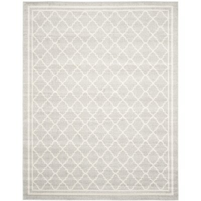 Maritza Light Gray & Beige Indoor/Outdoor Area Rug Rug Size: 11 x 15
