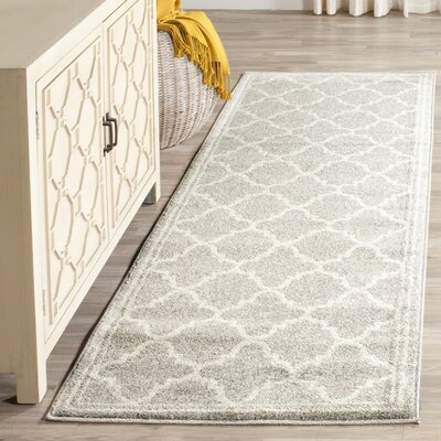 Maritza Light Gray & Beige Indoor/Outdoor Area Rug Rug Size: Runner 23 x 11